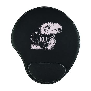 The University of Kansas-Padded Velour Mouse Pad-Black