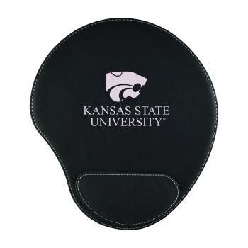 Kansas State University-Padded Velour Mouse Pad-Black
