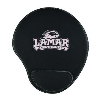 Lamar University-Padded Velour Mouse Pad-Black