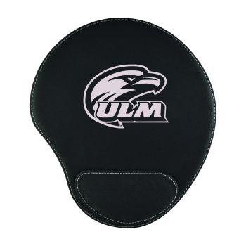 University of Louisiana at Monroe-Padded Velour Mouse Pad-Black