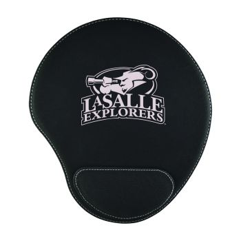 La Salle State University-Padded Velour Mouse Pad-Black