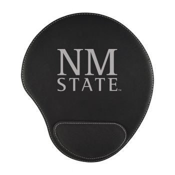 New Mexico State-Padded Velour Mouse Pad-Black