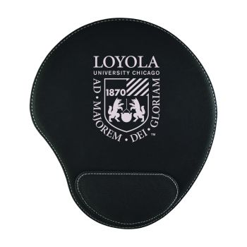 Loyola University Chicago -Padded Velour Mouse Pad-Black