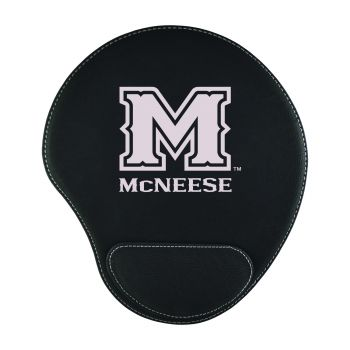 McNeese State University-Padded Velour Mouse Pad-Black