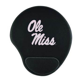 University of Mississippi -Padded Velour Mouse Pad-Black