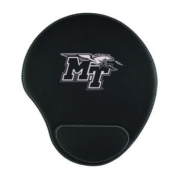 Middle Tennessee State University -Padded Velour Mouse Pad-Black