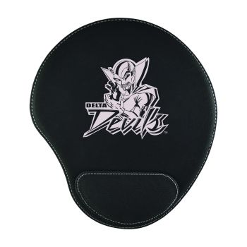 Mississippi Valley State University-Padded Velour Mouse Pad-Black