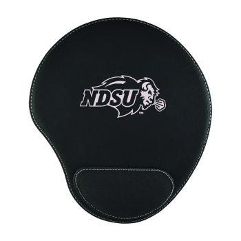 North Dakota State University-Padded Velour Mouse Pad-Black