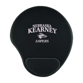 University of Nebraska at Kearney-Padded Velour Mouse Pad-Black