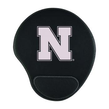University of Nebraska-Padded Velour Mouse Pad-Black
