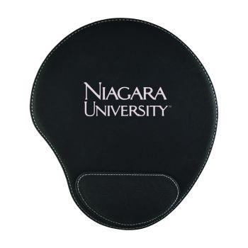 Niagara University-Padded Velour Mouse Pad-Black