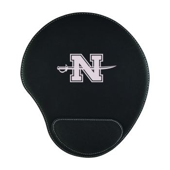 Nicholls State University-Padded Velour Mouse Pad-Black