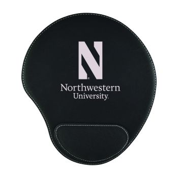 Northwestern University-Padded Velour Mouse Pad-Black