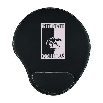 Pittsburg State University-Padded Velour Mouse Pad-Black