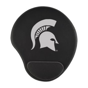 Michigan State University-Padded Velour Mouse Pad-Black