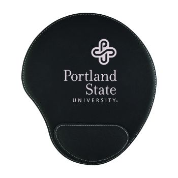 Portland State University-Padded Velour Mouse Pad-Black
