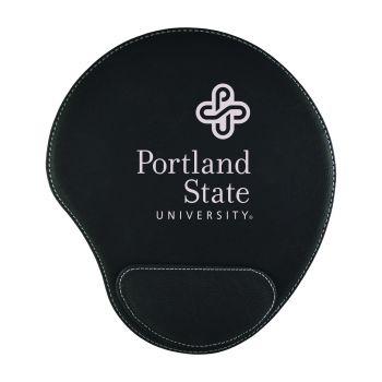 Portland State University-Padded Velour Mouse Pad-Black