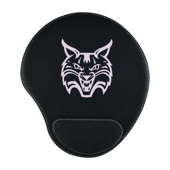 Quinnipiac University -Padded Velour Mouse Pad-Black