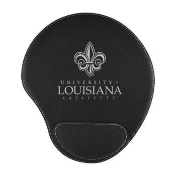 University of Louisiana at Lafayette-Padded Velour Mouse Pad-Black