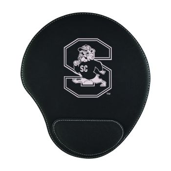 South Carolina State University -Padded Velour Mouse Pad-Black