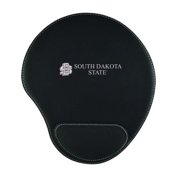 South Dakota State University-Padded Velour Mouse Pad-Black