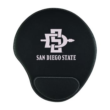San Diego State University-Padded Velour Mouse Pad-Black