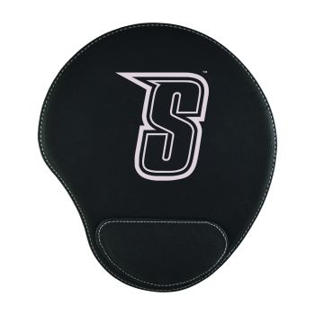 Siena College-Padded Velour Mouse Pad-Black