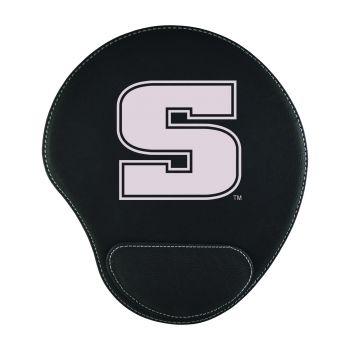 Slippery Rock University -Padded Velour Mouse Pad-Black