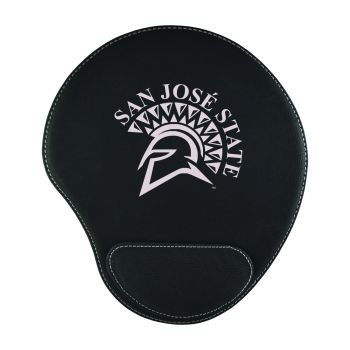 San Jose State University-Padded Velour Mouse Pad-Black
