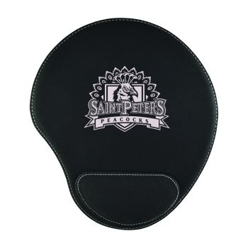 Saint Peter's University-Padded Velour Mouse Pad-Black