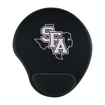 Stephen F. Austin State University-Padded Velour Mouse Pad-Black