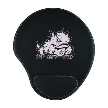 Texas Christian University-Padded Velour Mouse Pad-Black