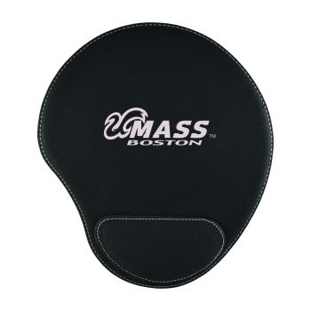 University of Massachusetts, Boston-Padded Velour Mouse Pad-Black