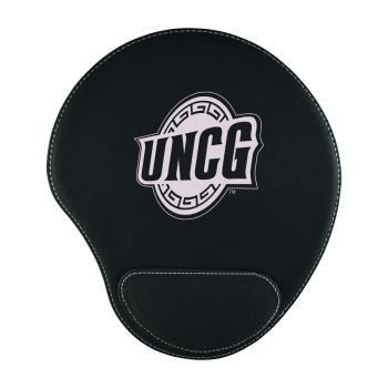University of North Carolina at Greensboro-Padded Velour Mouse Pad-Black