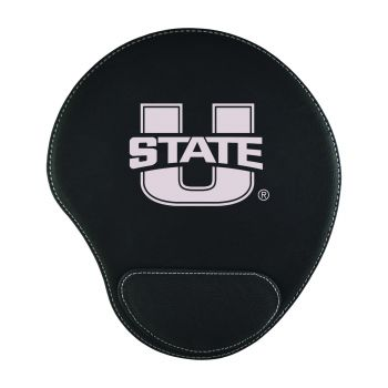 Utah State University-Padded Velour Mouse Pad-Black