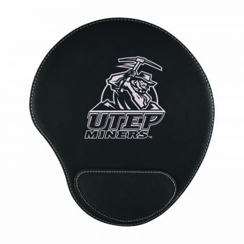 The University of Texas at El Paso -Padded Velour Mouse Pad-Black