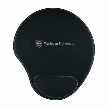 Wesleyan University-Padded Velour Mouse Pad-Black