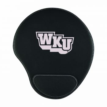 Western Kentucky University-Padded Velour Mouse Pad-Black