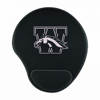 Western Michigan University-Padded Velour Mouse Pad-Black