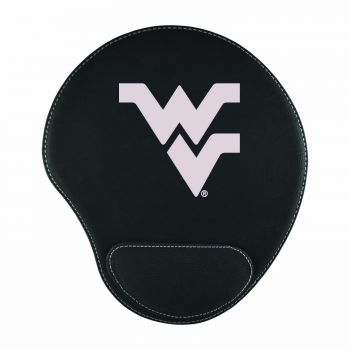 West Virginia University-Padded Velour Mouse Pad-Black