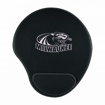 University of Wisconsin-Milwaukee-Padded Velour Mouse Pad-Black