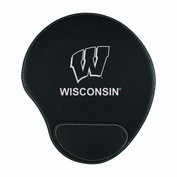 University of Wisconsin-Padded Velour Mouse Pad-Black