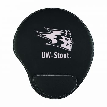 University of Wisconsin-Stout-Padded Velour Mouse Pad-Black