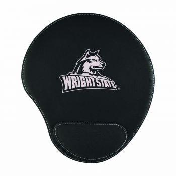 Wright State university -Padded Velour Mouse Pad-Black