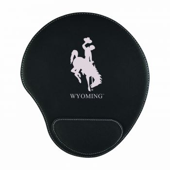 University of Wyoming-Padded Velour Mouse Pad-Black