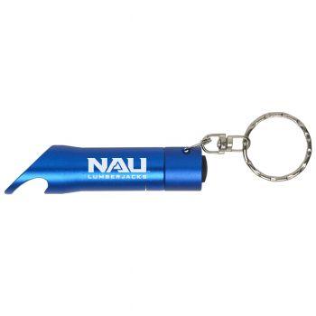 Northern Arizona University - LED Flashlight Bottle Opener Keychain - Blue