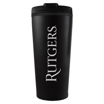 Rutgers University -16 oz. Travel Mug Tumbler-Black