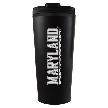 University of Maryland-16 oz. Travel Mug Tumbler-Black