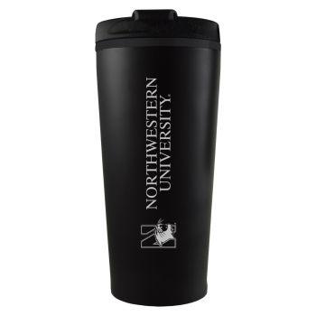 Northwestern University -16 oz. Travel Mug Tumbler-Black