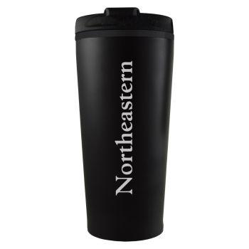 Northeastern University -16 oz. Travel Mug Tumbler-Black